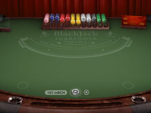 Blackjack table at Bitstarz with a huge 101 mBCH bet